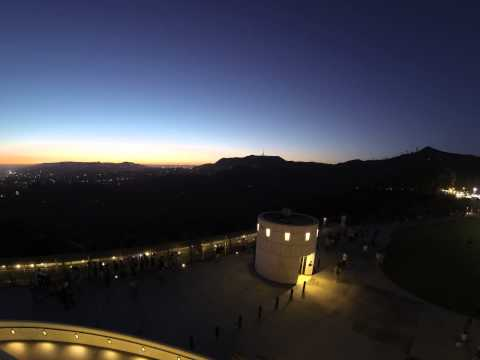 Sunset over the Hollywood Hills (from Griffith Observatory) [Time Lapse, 4K, 6K]