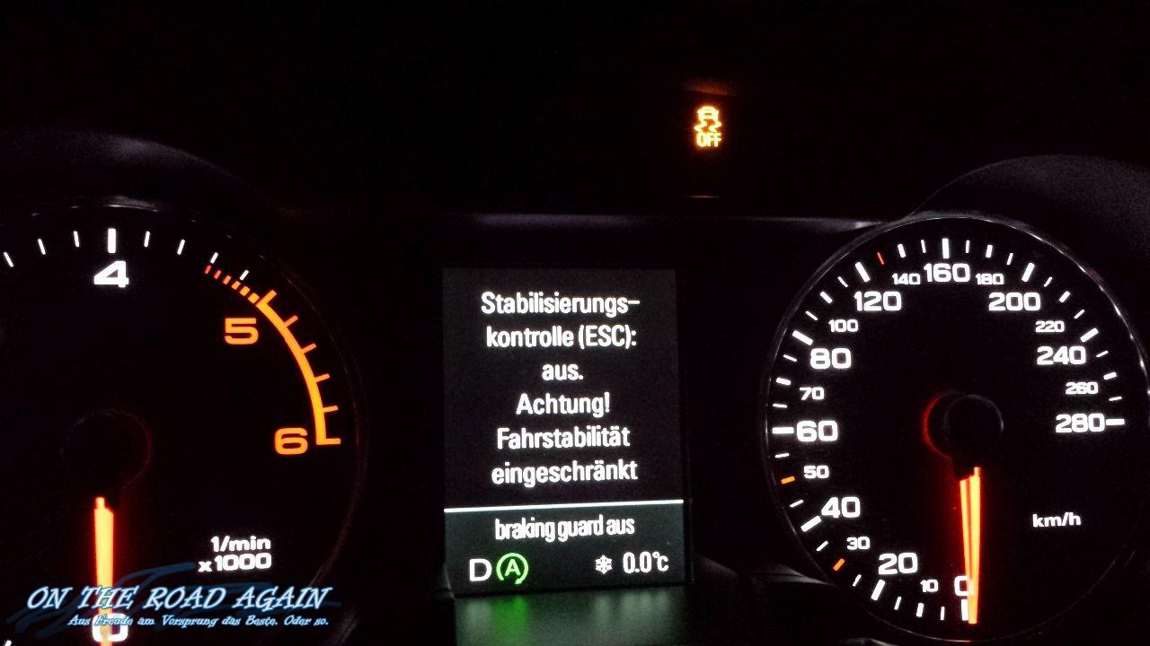 Audi MFA - ESC deaktiviert
