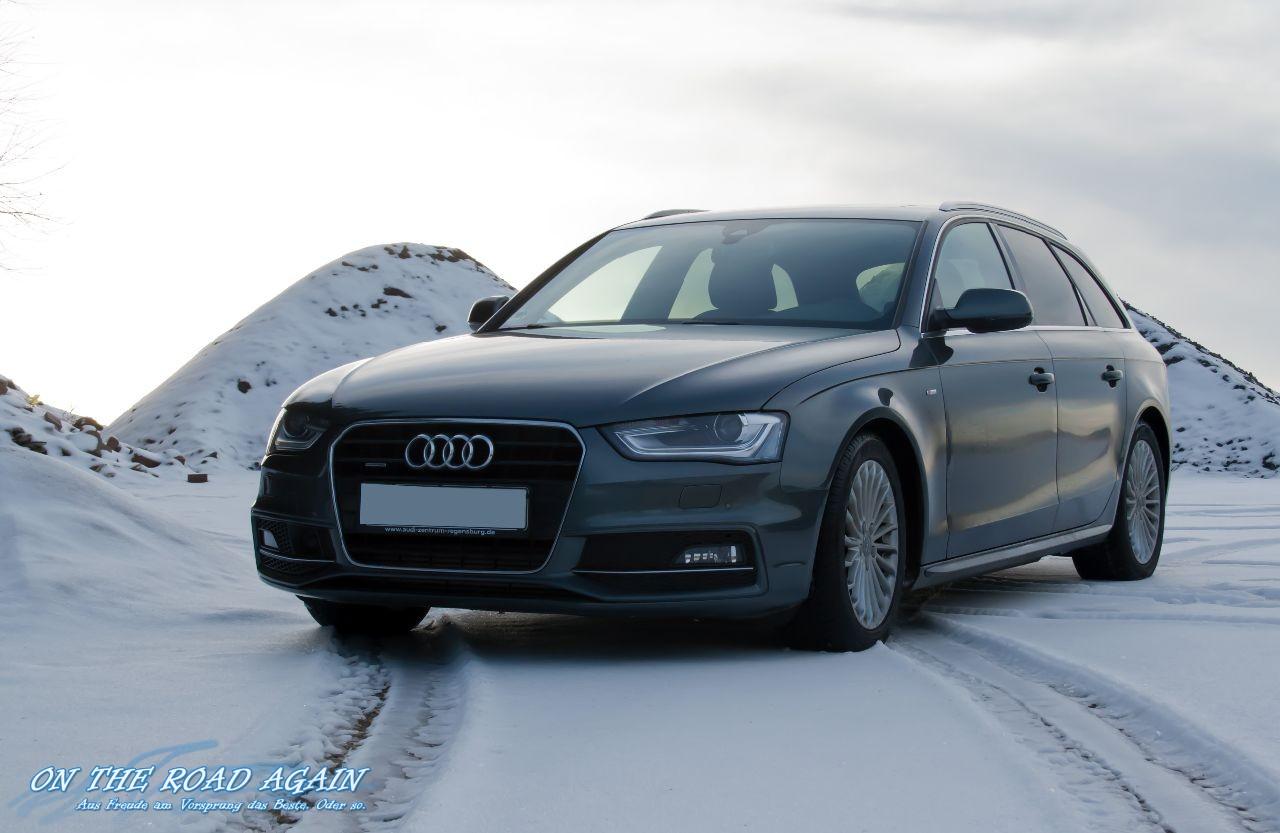 Audi A4 3.0 TDI quattro im Schnee