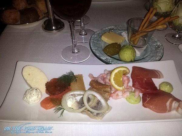 Fischplatte im Restaurant Knapp, Aabenraa