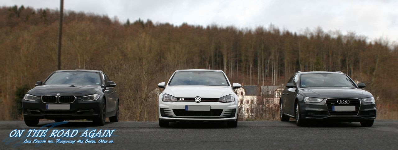 BMW 335d, VW Golf GTI, Audi A4 Avant