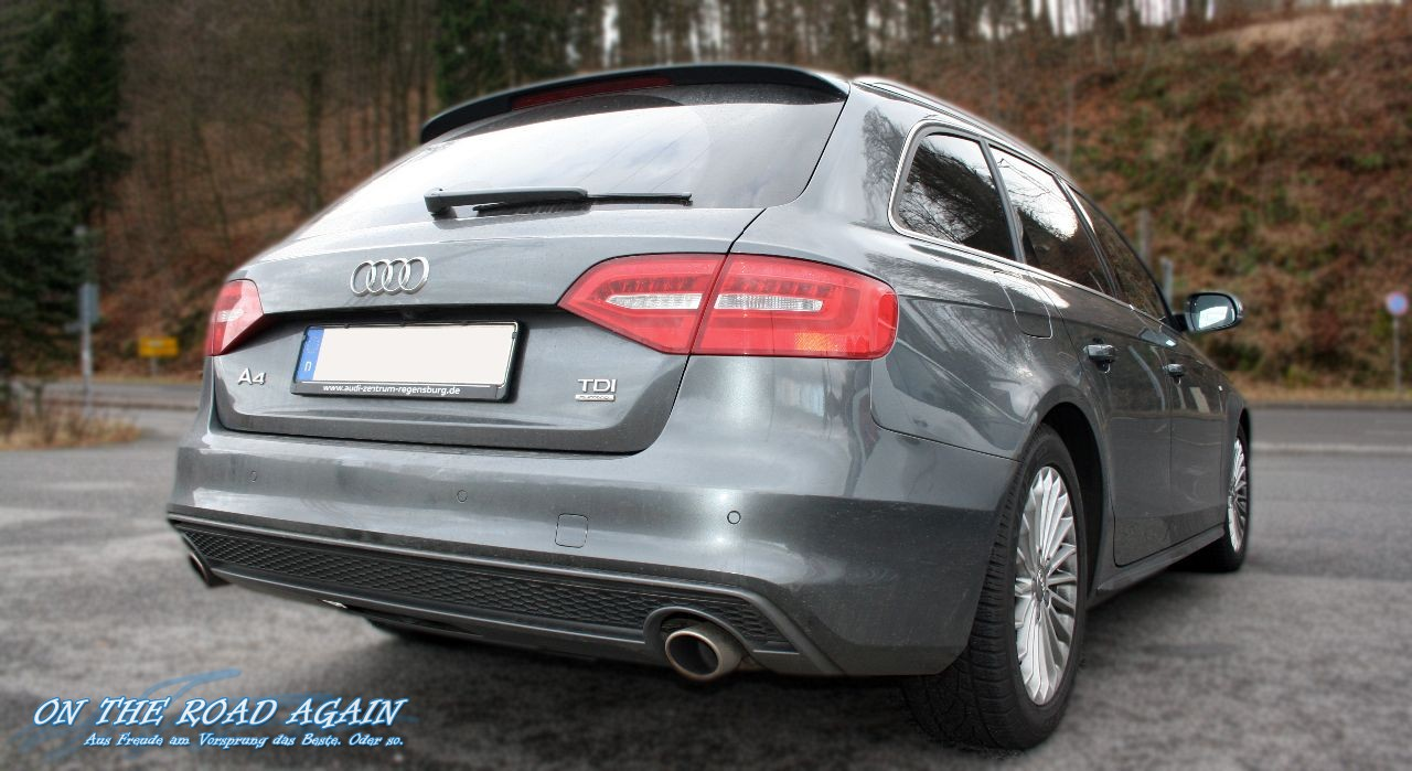 Audi A4 Avant 3 0 Tdi Quattro S Line Heck On The Road