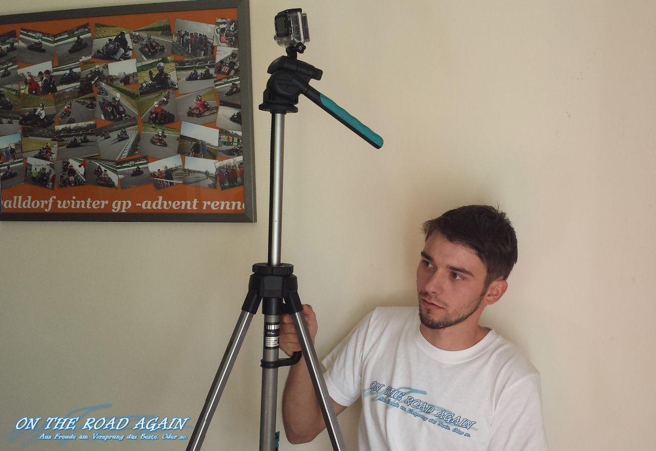Willy filmt beim MWT KartCup 2014