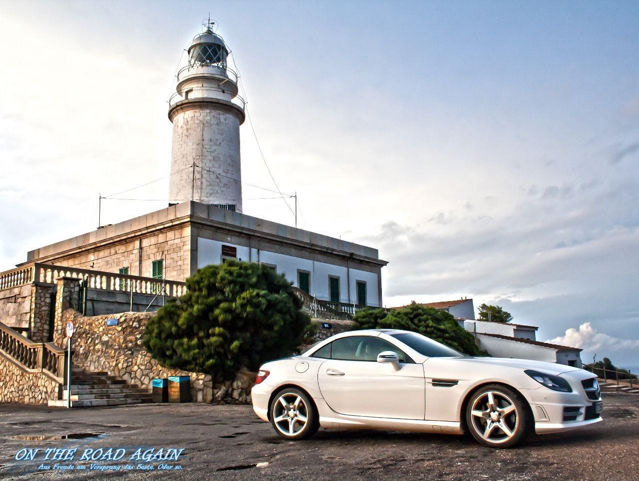 Mercedes SLK 250 CDI am Cap Formentor