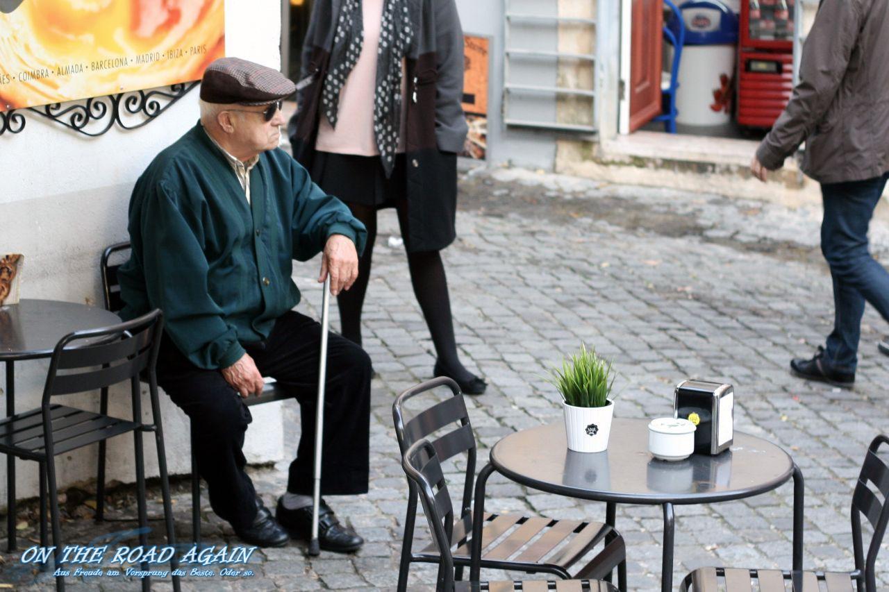 Alter Mann in Lissabon