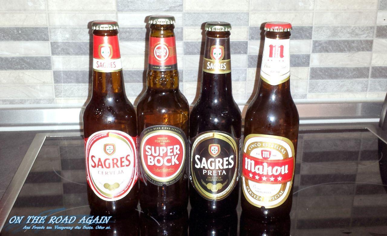 Portugisisches Bier - Sagres und Super Bock