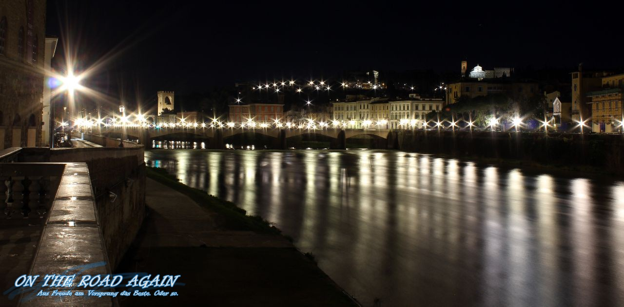 Lichtstimmung nachts in Florenz