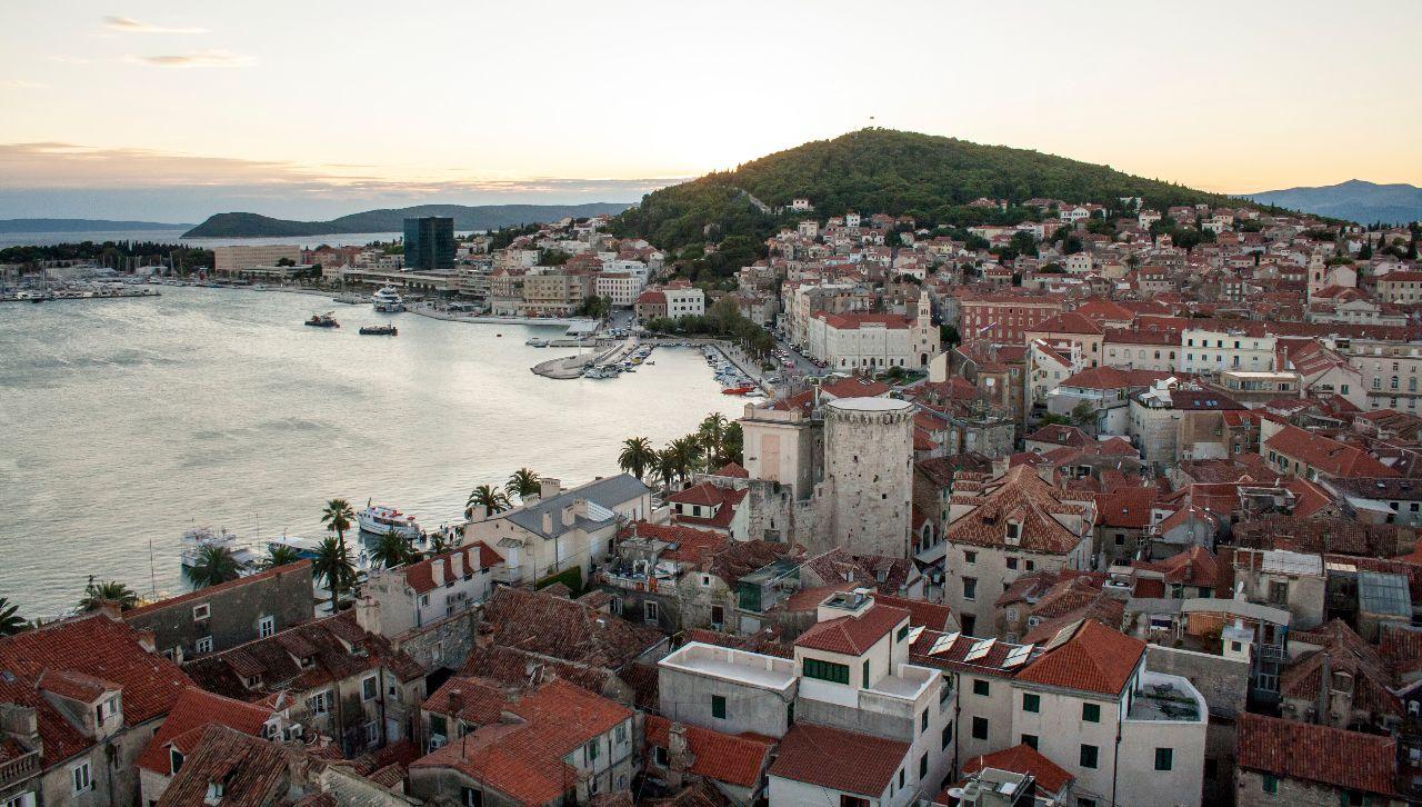 Ausblick auf die Altstadt von Split vom Glockenturm