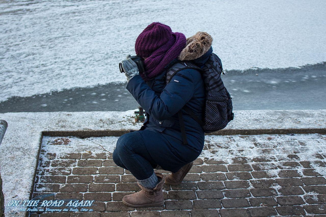 Dick eingepackt in Riga
