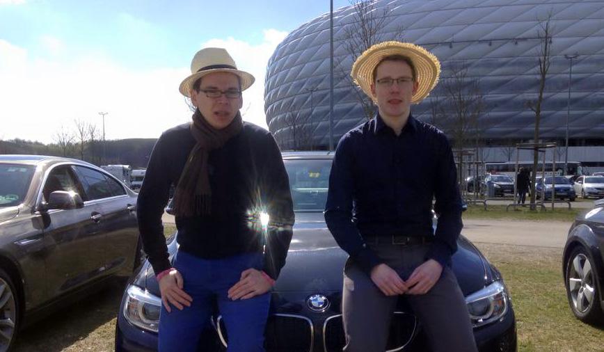 Team Strohhut im BMW 420d