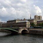 Blick über die Seine auf die Île de la Cité, Paris