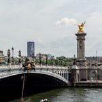 Tour Montparnasse von der Pont Alexandre III, Paris