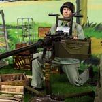 Amerikanische MG-Stellung im Omaha Beach Museum