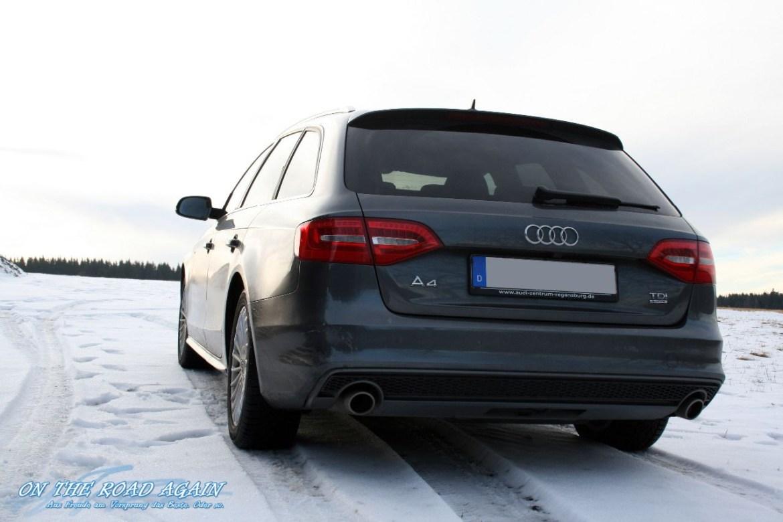 Audi A4 Avant im Schnee