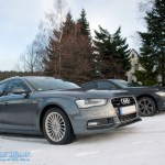 Audi A4 und BMW 3er am Schneeberg