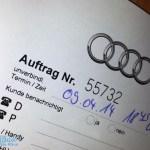Auftrag Audi Zentrum