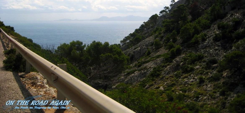 Auffahrt zum Cap de Formentor