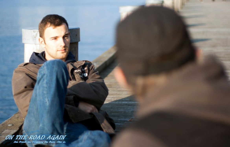 Matthias und Manu beim chillen