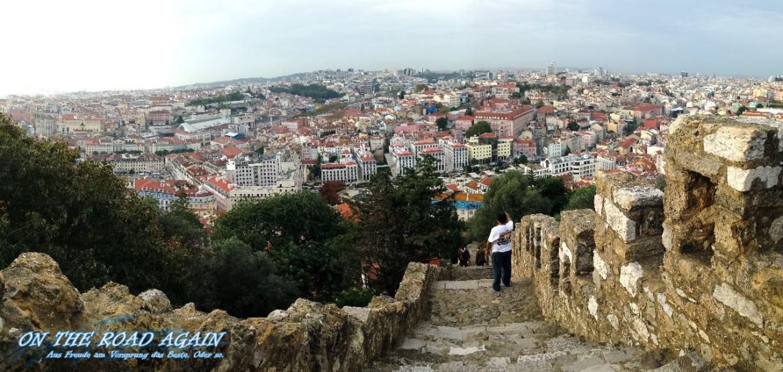 Blick über Lissabon vom Castelo Sao Jorge