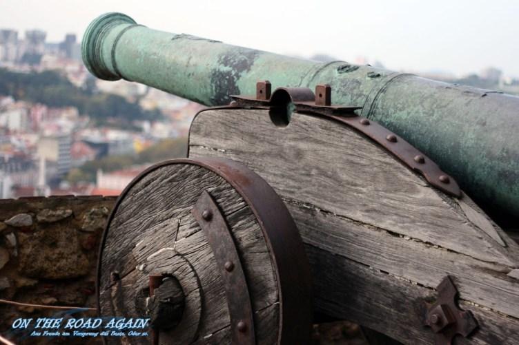Kanone auf dem Castelo Lissabon