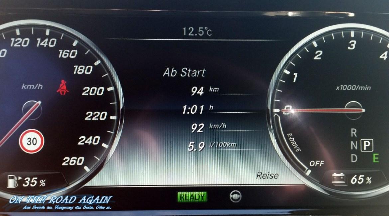 Mercedes-Benz S-Klasse Tacho Verbrauch