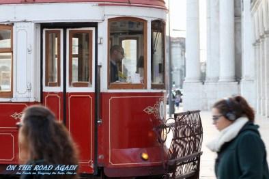 Alte Tram in Lissabon