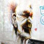 Grafiti Kopf in Lissabon