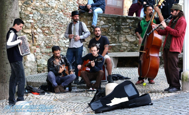 Straßenband am Castelo Sao Jorge Lissabon
