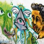 diverse Grafiti in Lissabon