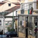 typischer Lissaboner Straße