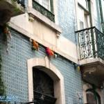 verkachelte Häuser Lissabon