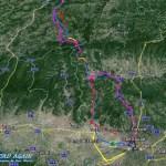 Karte Zieleinlauf nach Florenz