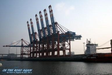Verladekräne im Hamburger Hafen
