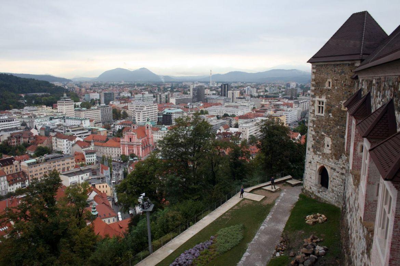 Aussicht von der Burg von Ljubljana