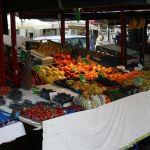 Obststand auf dem Markt in Ljubljana