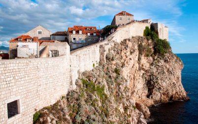 Nordseite der Stadtmauer von Dubrovnik
