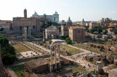 Forum Romanum vom Palatin aus