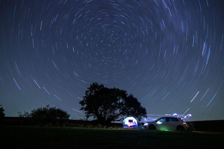 Golf vor Fixstern, Sternenhimmel