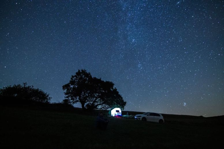 Willy beim Sternebeobachten
