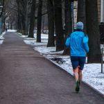 Joggen im Winter Riga