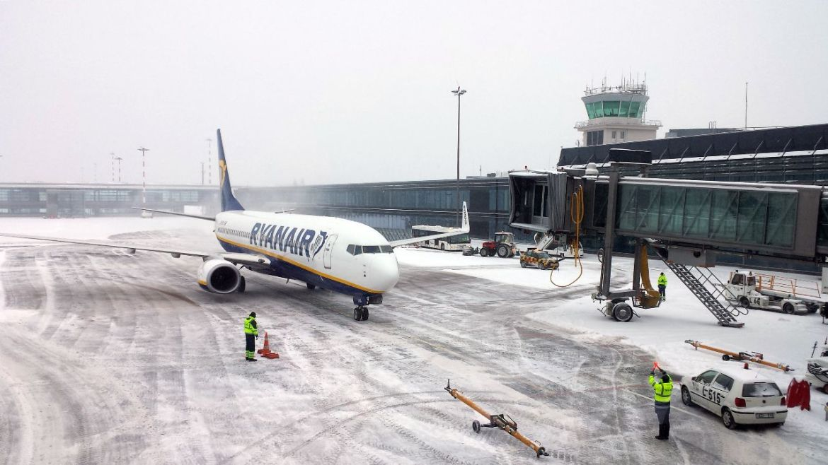 Ryanair Flieger am RIX International Airport Riga