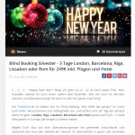 Travelbird Blind Booking Angebot Silvester 2015