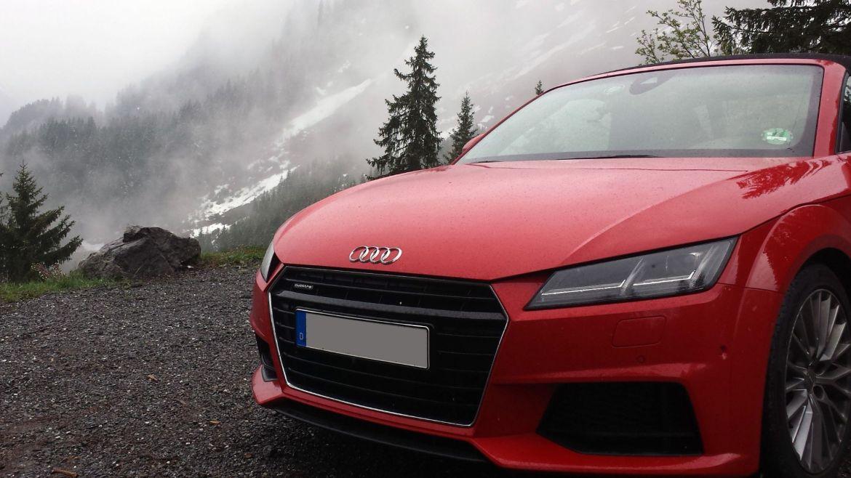 Audi TT auf der Alm in Vorarlberg