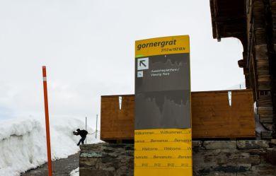 Weg zur Aussichtsplattform am Gornergrat