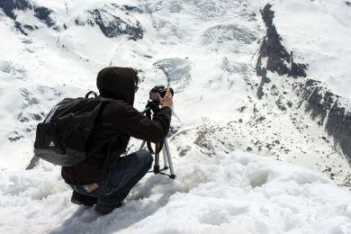 Willy fotografiert am Gornergrat