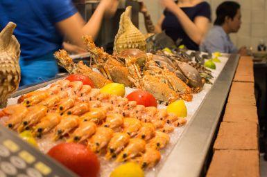 Meeresfrüchte in der Marisqueira M, Lissabon