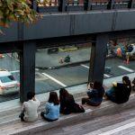 Fenster auf die Straße Highline