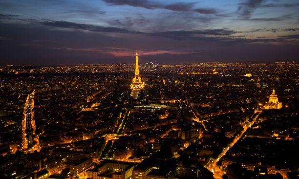 Paris bei Nacht vom Tour Montparnasse