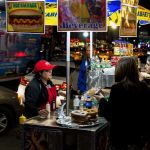Food Cart nachts in NYC