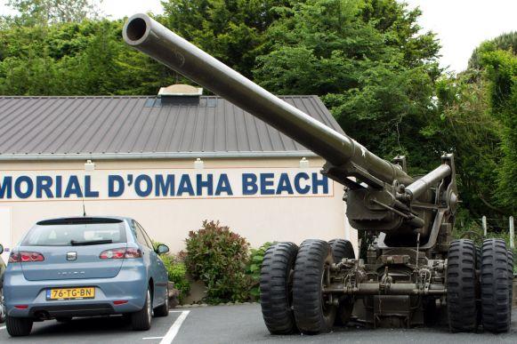 Geschütz am Omaha Beach Museum